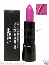 MAC Mineralize Rich Lipstick ♡ BOLD SPRING ♡ Deep Blue Pink New & Boxed