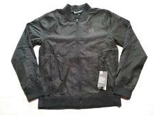UNDER ARMOUR  Mens  Bomber Golf Jacket / Windbreaker Full Zip Black  Sz-M  NWT