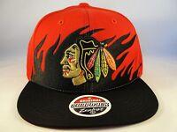NHL Chicago Blackhawks Zephyr Snapback Hat Cap Flame