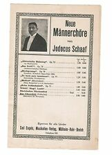 Männerchor Noten : SCHAAF Der Gänsedieb - Chorparitur / Singpartitur - Alt