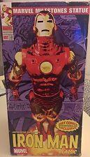 IRON MAN MARVEL MILESTONES EXCLUSIVE CHROME STATUE Best Comics Marvel avengers