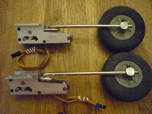 elektrisches Einziehfahrwerk für RC Flugzeug sehr wertig von Eflite Metall