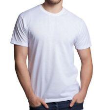 Mens Plain Longline Tshirt Top Long Length Soft Feel Tee Base Layer Short Sleeve
