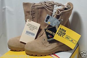 NIB Belleville Cold Weather GORE-TEX Size 8.5W US Boots Tan - 2 Sets of Liners