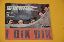 """7"""" 45 (NO LP ) SOLO COPERTINA DIK DIK IL VENTO ORIG '60 EX"""