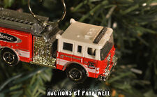 Custom Pierce Dash Fire Ladder Truck Christmas Ornament 1/64th Scale Adorno New!