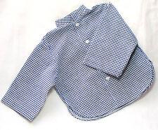 """Boneka camisa azul blanco a cuadros 55 cm muñecas/Blue Tartan camisa 55 cm/21"""" Dolls"""