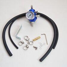 Benzindruckregler Universal Blau mit Manometer einstellbar fuel press regulator