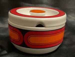 Arzberg Germany Sizillia  Pop Art 1970's Sugar Bowl Hard To Find