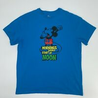 """Disney Parks Mickey Mouse """"Mornings Should Start at Noon"""" T-Shirt Adult Size L"""