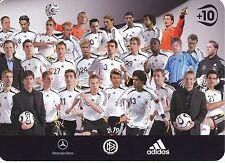 DFB  Nationalteam   Mannschaftskarte ohne Unterschriften  300887