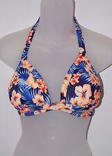 Victoria's Secret PINK Hawaiian Print Wrap Triangle Push-Up Bikini Top Sz Small
