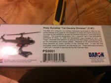 Daron Die Cast Airplanes Huey Gunship 1st Cavalry Div 1/87 scale w/display stand