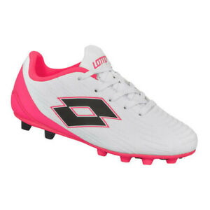 Lotto Neapolitan Wide Width Pink/White Kids Soccer Cleats Size 13K