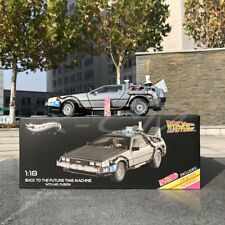 Diecast Car Model Hot Wheels Back to the Future Time Machine 1:18 + GIFT!!!