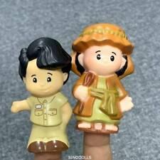 2x Fisher Price Little People CHRISTMAS Nativity MANGER SHEPHERD figure TOY SDUK