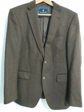 Van Kollem EU48 UK38 R Brown Single Breasted 100% Wool Jacket / Blazer New York