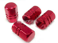 4pcs Red Wheel Tyre Tire Valve Stems Air Dust Cover Screw Caps Car Truck Bike RD