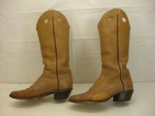 Men's sz 11 D M Vtg 1950's Hand Made Tall Buckaroo Cowboy Boots Bullhide Leather