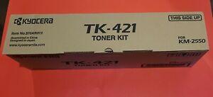 TK-421 KYOCERA MITA COPORATION KM-2550 SERIES TONER KIT BLACK