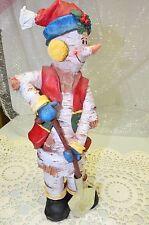 """Snowman Shoveler Figurine Christmas Decor 12"""" Resin"""