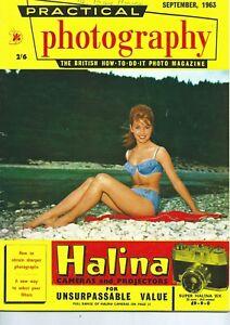 September 1963 Practical Photography magazine MARGITTA SCHERR COVER