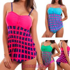 Bikini tankini donna costume da bagno mare due pezzi culotte nuovo 17152-MOD