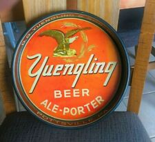 """Vintage Yuengling Beer - Brewing Co 13"""" Metal Tin Litho Eagle Tray Pottsville Pa"""