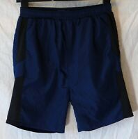 Boys Next Blue Black Drawstring Waist Sports Football Lined Shorts Age 11 Years