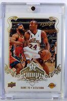 2008-09 Upper Deck MVP White Border Kobe Bryant Game 70, March 23, Lakers