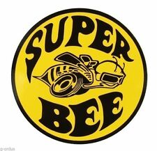 "BRAND NEW DODGE SUPER BEE YELLOW AND BLACK 3""  DECAL STICKER MOPAR!"