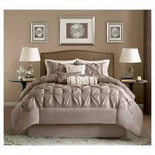 Piedmont Comforter Set (Queen) Taupe - 7pc