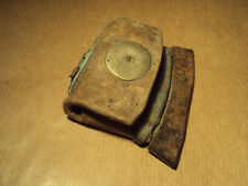 VINTAGE LEATHER POUCH KEY HOLDER WALLET - ANTIQUE - BEAUTIFUL RARE OLD PIECE