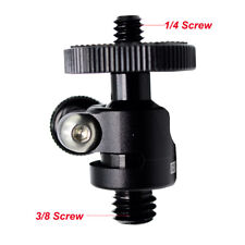 Mini Ballhead Camera Tripod Ball Head Mount and 1/4 to 3/8 Connector