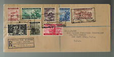 1944 Poland Free Government in Exile Com Set # 3K9-3K16 Censored Cover to USA