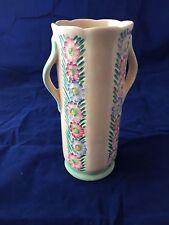 Art Deco Crown Devon hand carved vase c. 1930s.