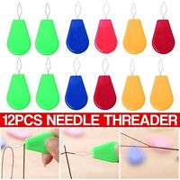 12 x Needle Threader Simple Needle Threading Hand or Machine Threading Set of 12