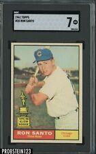 1961 Topps #35 Ron Santo Chicago Cubs HOF SGC 7 NM