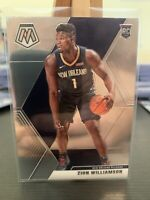 2019-20 Panini Mosaic Zion Williamson Rookie Base #209 New Orleans Pelicans RC 2