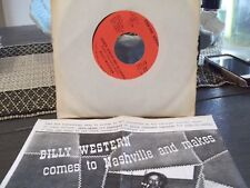 45P*PIC SLEEVE * BILLY WESTERN SITTIN ON TOP OF THE WORLD/ SIGNED,SEALED,DELIVE