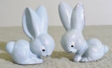 Germany Us Zone-Antique-Paper Mache Blue Bunny Rabbit Pair- Unique/Unusual