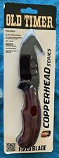 (FC3) Schrade Old Timer Fixed Knife Copperhead Series Rosewood Handle 2143OTRWCP