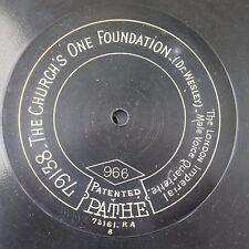 """12"""" 78rpm PATHE 966 London Imperial Male Voice Quartette"""