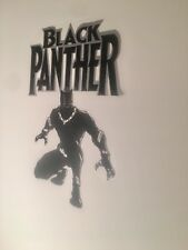 Silver Black Panther Mural Vinyl Art Home Wall Decor Removable Sticker Decal