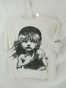 VTG 80's HBO Les Miserables Single Stitched White T-Shirt Mens XL