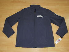 SEATTLE SEAHAWKS SOFT SHELL THERMABASE TEAM JACKET MENS 2XL - FULL ZIPPER