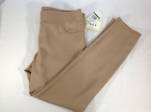 Pants Long Tan Stretch L Large ECI New York