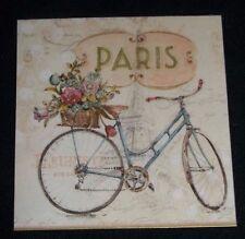 "Refrigerator Magnet ""Paris"" Bike and Eiffel tower"