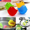 4pcs Silicone Egg Poacher Cup Coloured Poaching Pod Mould Pan Poach Cooking US