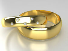 Band Natural Stone Yellow Gold Fine Rings